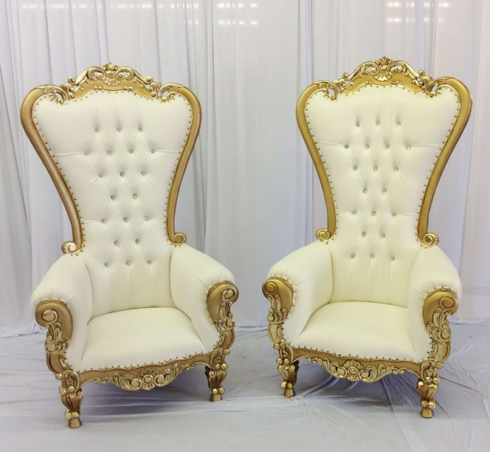 King Amp Queen Throne Chair